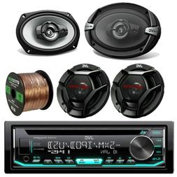 "JVC KDR670 CD Receiver, 2x 6x9"" / 2x 6.5"" Inch Audio Speaker"