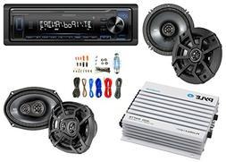 Kenwood Bluetooth AM/FM Car Stereo Receiver Bundle Combo w/2