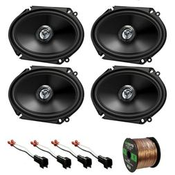 "Kenwood Car 6x8"" Coaxial 2Way Speakers, 98-UP Ford Harness,"