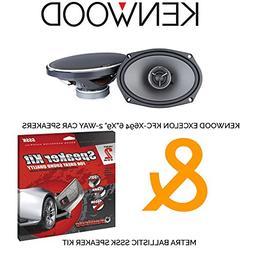 """Kenwood Excelon KFC-X694 6""""x9"""" 2-way Car Speakers  with Metr"""