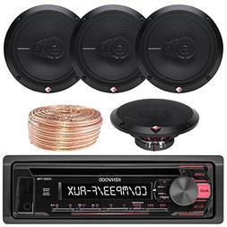 Kenwood KDC118 Car CD Player Receiver USB AUX Radio - Bundle