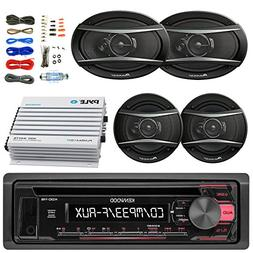 Kenwood KDC118 Car Radio AUX CD Player Receiver - Bundle Wit
