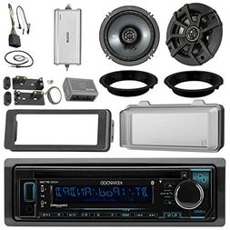 "Kenwood KDCBT32 CD Receiver Bundle/2 Kicker 6.5"" Speaker + M"