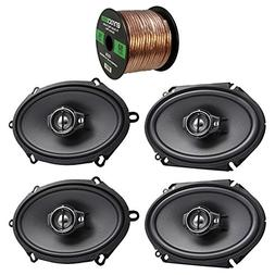2X Kenwood KFC-C5795PS 5x7 360W 3-Way Custom Fit Coaxial Spe