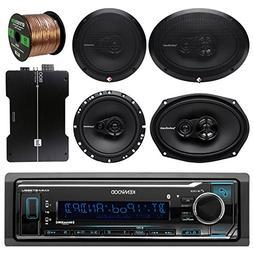 Kenwood KMMBT322U Bluetooth AM/FM Radio Car Receiver Bundle