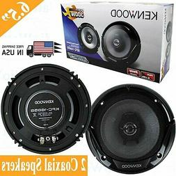 "Kenwood KFC-1665S 6.5"" New 300W 2-Way Car Audio Coaxial Spea"