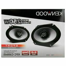 Kenwood KFC‑C6866S 6X8 2‑Way 250 Watt Car Stereo Speaker