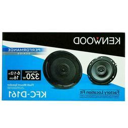 "Kenwood KFC-D161 6-1/2"" 2-Way Car Audio Speaker System 320 W"