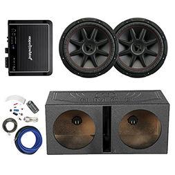 "2x Kicker 12"" 800 Watt 4 Ohm Car Audio Subwoofer, and QPOWER"