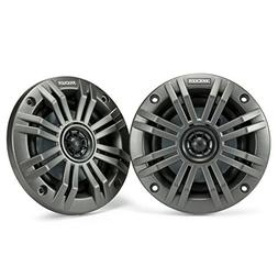 Kicker KM4 4-Inch  Marine Coaxial Speakers with 1/2-Inch  Tw