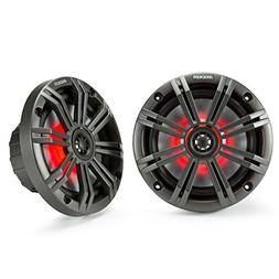 Kicker KM65 6.5-Inch  Marine Coaxial Speakers with 3/4-Inch