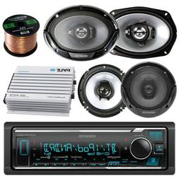 Kenwood Bluetooth AM/FM Radio Car MP3 Receiver Player Bundle