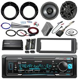 "Kenwood KMMBT515HD Stereo Receiver Bundle + 2 Kicker 6.5"" Sp"