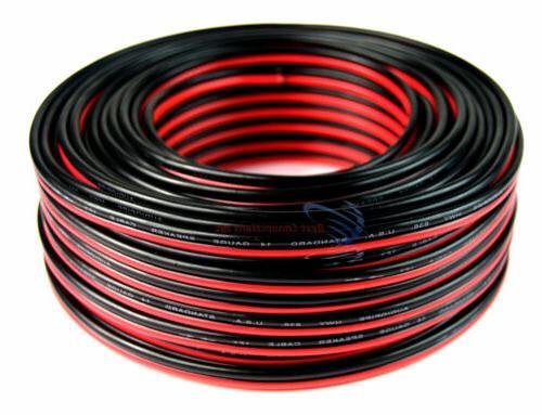 14 Gauge 100 Feet Speaker Wire Red Black Zip Cable Copper Cl