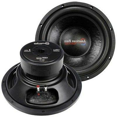"Subwoofer Car Audio Speaker 15"" American Bass 1000W Max 4 Oh"