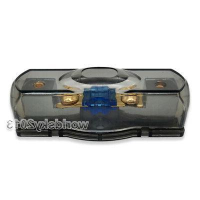 1x 60A Fuse Fuseholder Fuse Block for Car Speaker Audio Amplifier Safety
