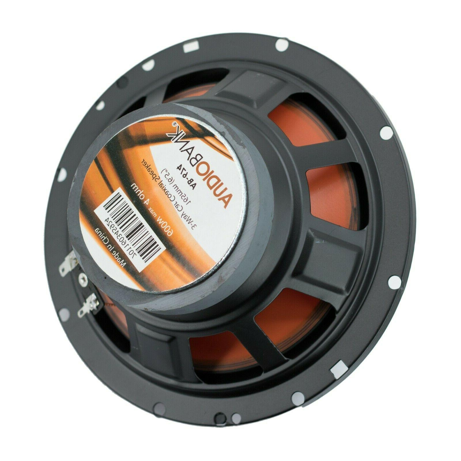"2) Audiobank 6.5"" Watt Orange Audio Stereo Speaker - AB674"
