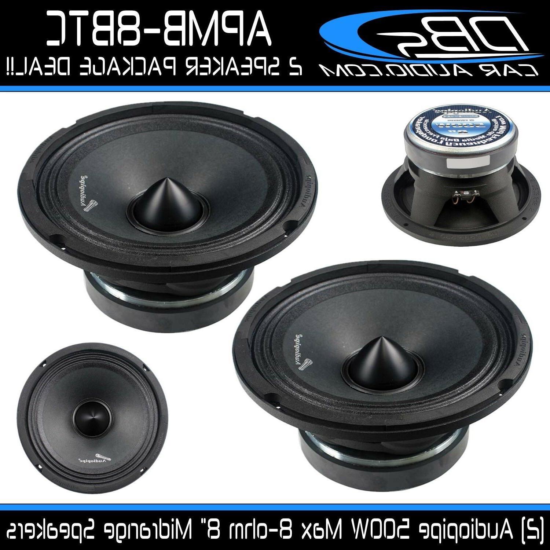 "2 Audiopipe APMB-8BTC 8"" Midrange Loud Speaker 1000W 8-ohm C"