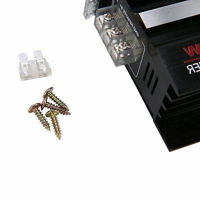 2 3800 Watt 12V Aluminum Car Stereo Audio Bass