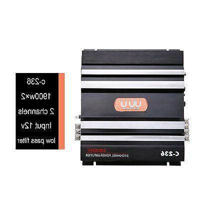 2 3800 12V Car Audio Power Amplifier Bass