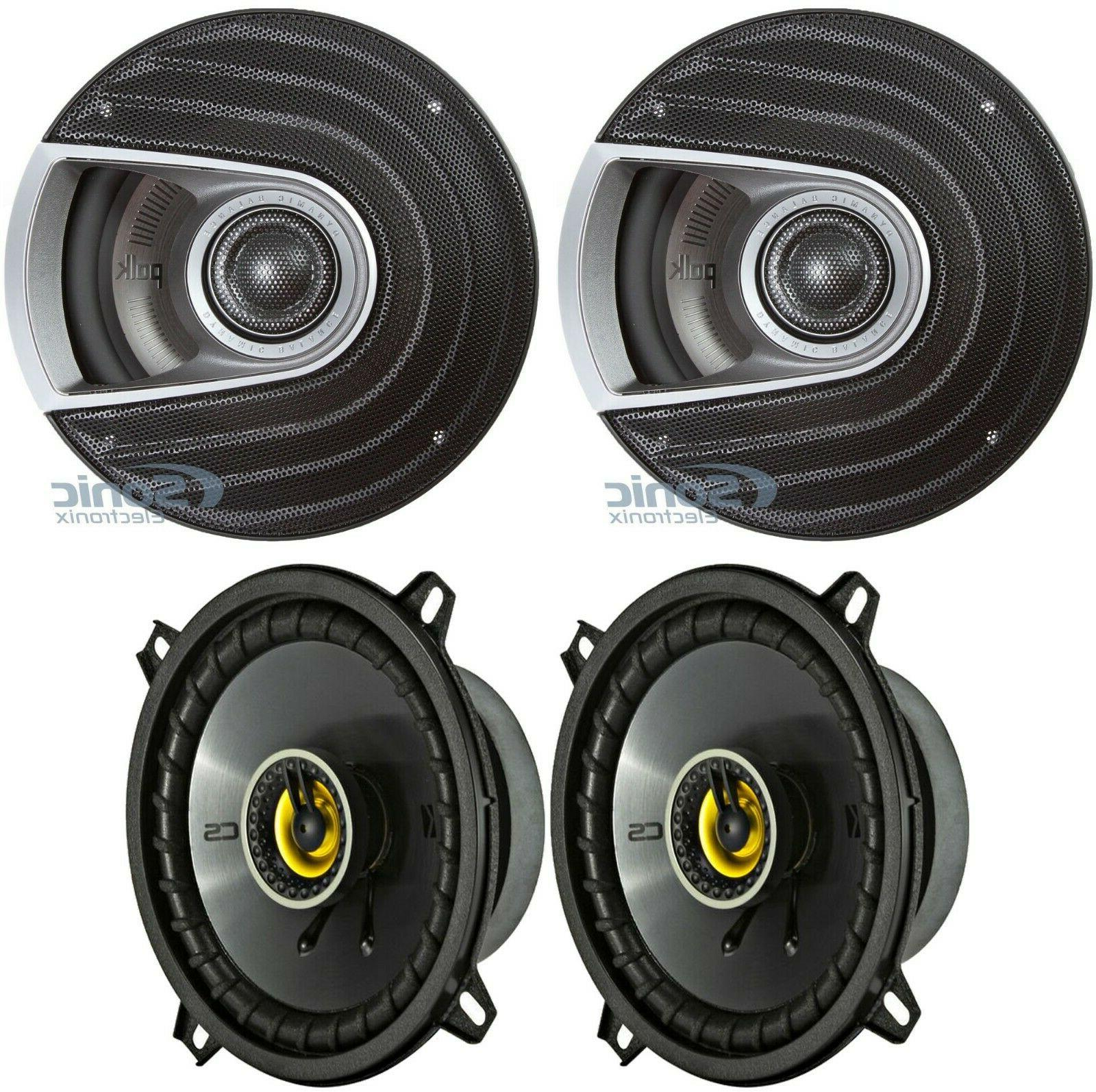 "Polk Audio MM652 6.5"" 600 Watt Car Audio Speakers +  Kick"