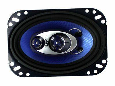 """2) 4x6"""" 240W Car Coaxial Audio Stereo PAIR Blue"""