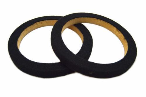 """1 Pair 8"""" MDF Speaker Ring Black 2 Pieces SPEAKER MOUNTING S"""