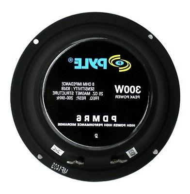 "4) Pyle 6.5"" Car Bass Mid Range Audio Speakers"