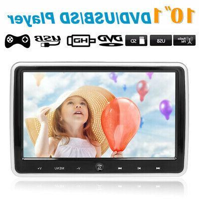 "10.1"" Car Headrest DVD Player Auto Monitor Video Game FM IR"