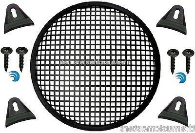 """2X Black 10"""" inch Sub WAFFLE GRILLS VWLTW"""