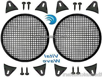 2x black 10 inch sub woofer speaker