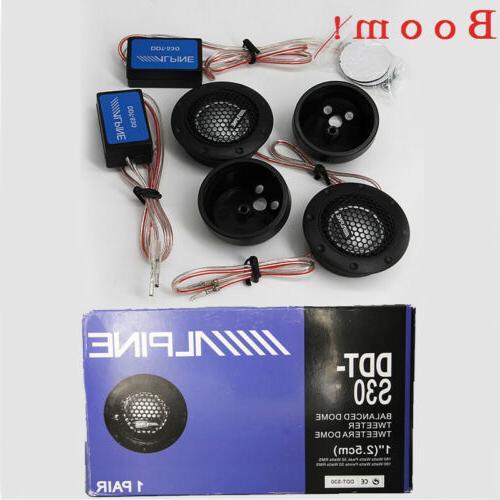 "360W Alpine 1"" Dome Balanced Car Speakers US"