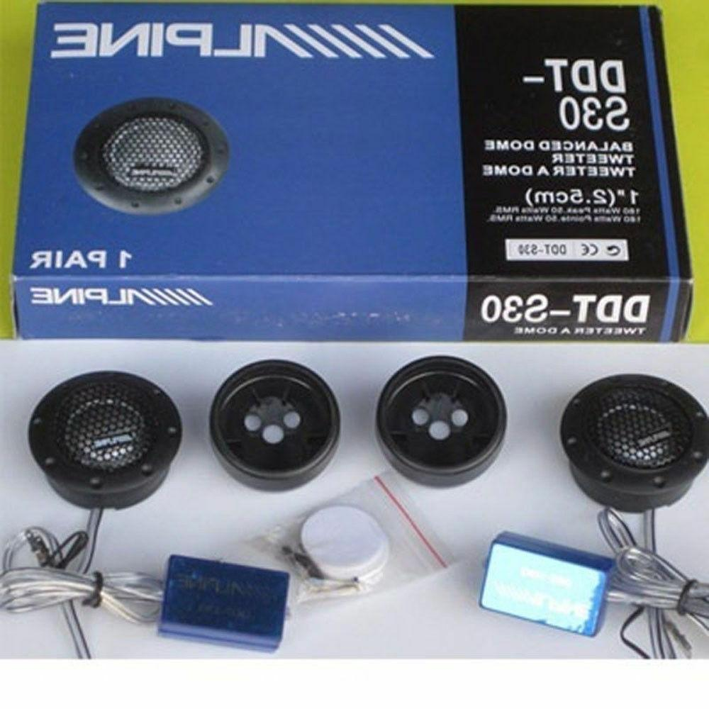 ALPINE DDT-S30 Car Speakers Music Soft Balanced Tweeters
