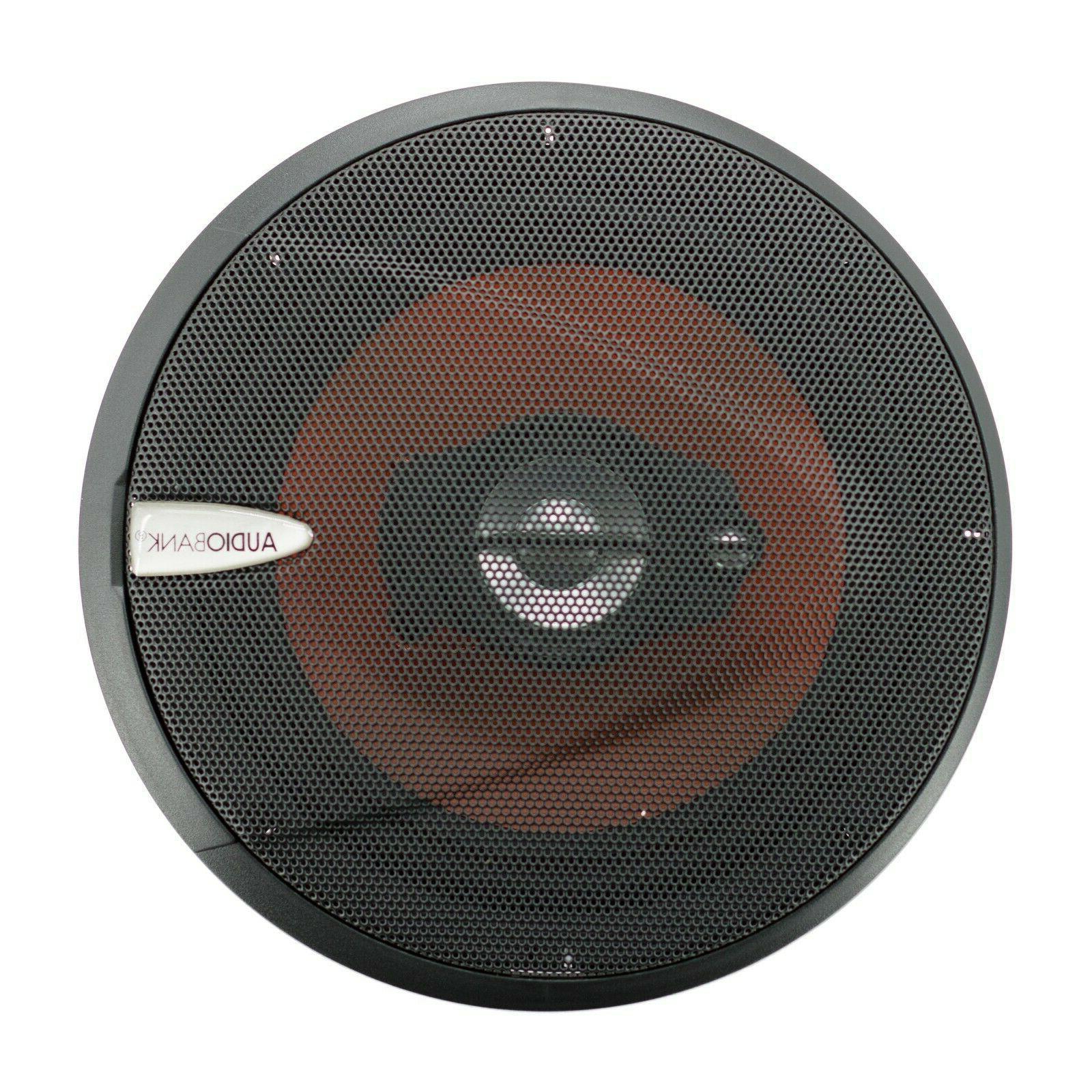 "4) 6.5"" Watt 3-Way Car Stereo Coaxial Speakers Grill"
