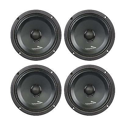 "4 AUDIOPIPE APMB-8SB-C 8"" TWO PAIR FULL RANGE CAR AUDIO DJ S"