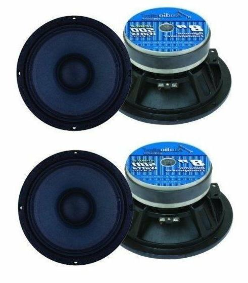 "Audiopipe APMB8 8"" 500 Watt Mid Bass Car Speakers"