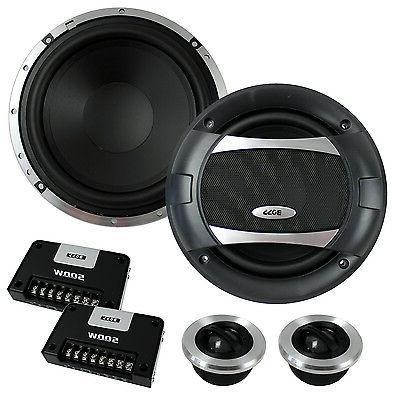 "4) BOSS 6.5"" Way Component Speakers Audio Set"