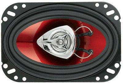 "4) New BOSS 4x6"" 400W Car Audio Red"