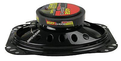 "4) BOSS 4x6"" 400W 2-Way Audio Coaxial Red"