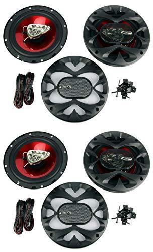 "4) BOSS 6.5"" 3-Way 600W Red"
