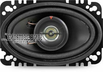 "New! Kenwood 4x6"" 2-Way Car Audio Package"