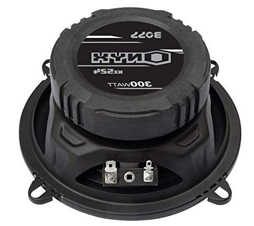 """5.25"""" 600W 4-Way Audio Stereo Black 4 Ohm"""