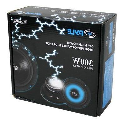 """4) 6.5"""" 1200W Bass Range Audio Speakers"""