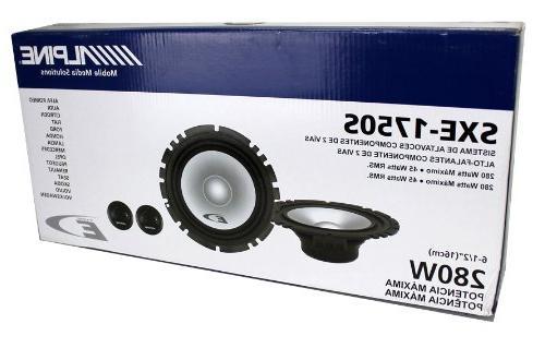 4 560W Car Way Component Audio SXE1750S