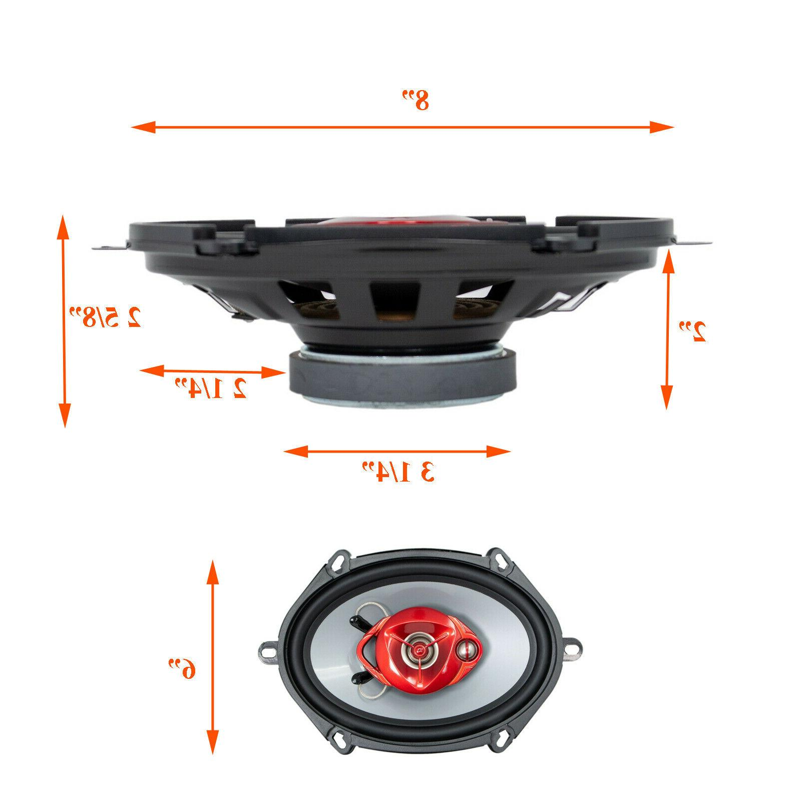 "4x Soundxtreme ST-680 / 6x8"" 700 Coaxial Speakers"