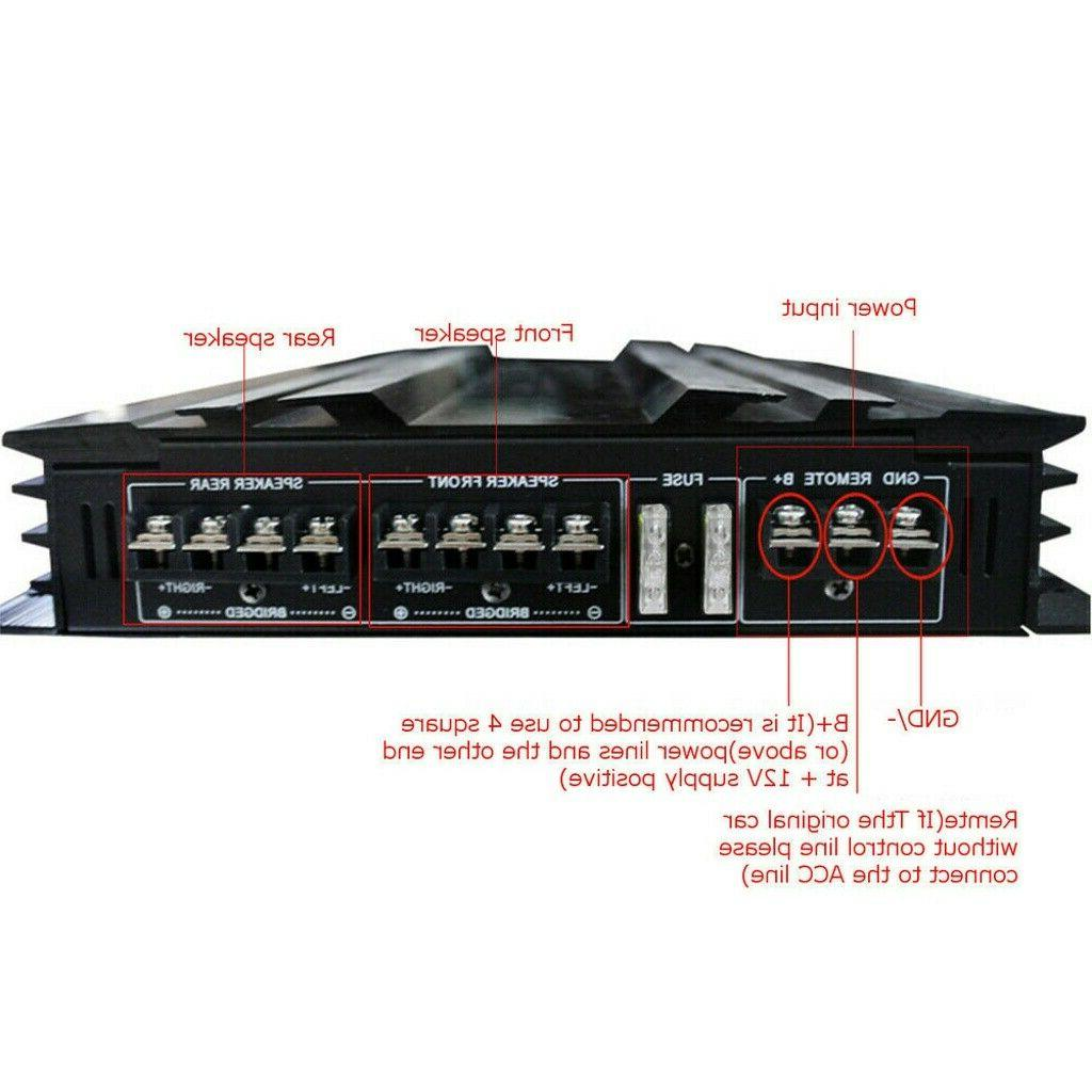5800W Watt Car Truck Audio Amp System Device