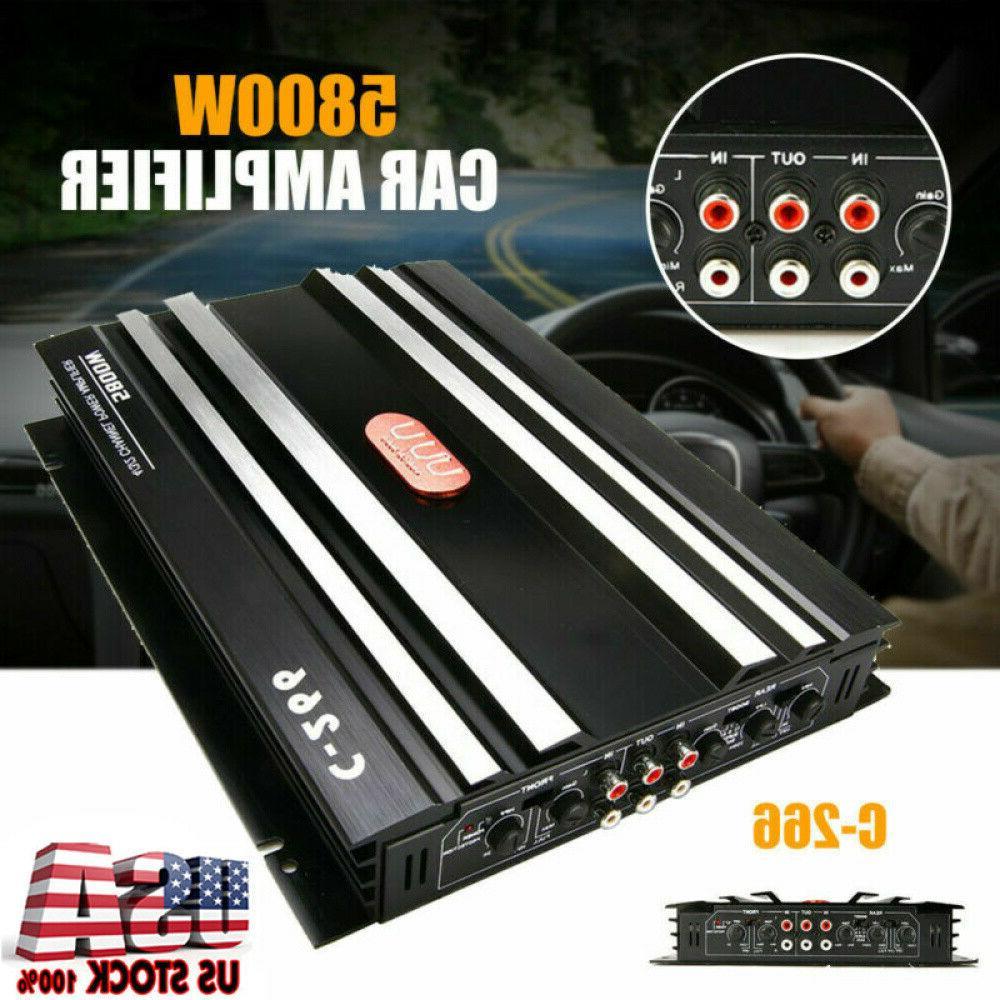 5800w watt 4 channel car truck amplifier