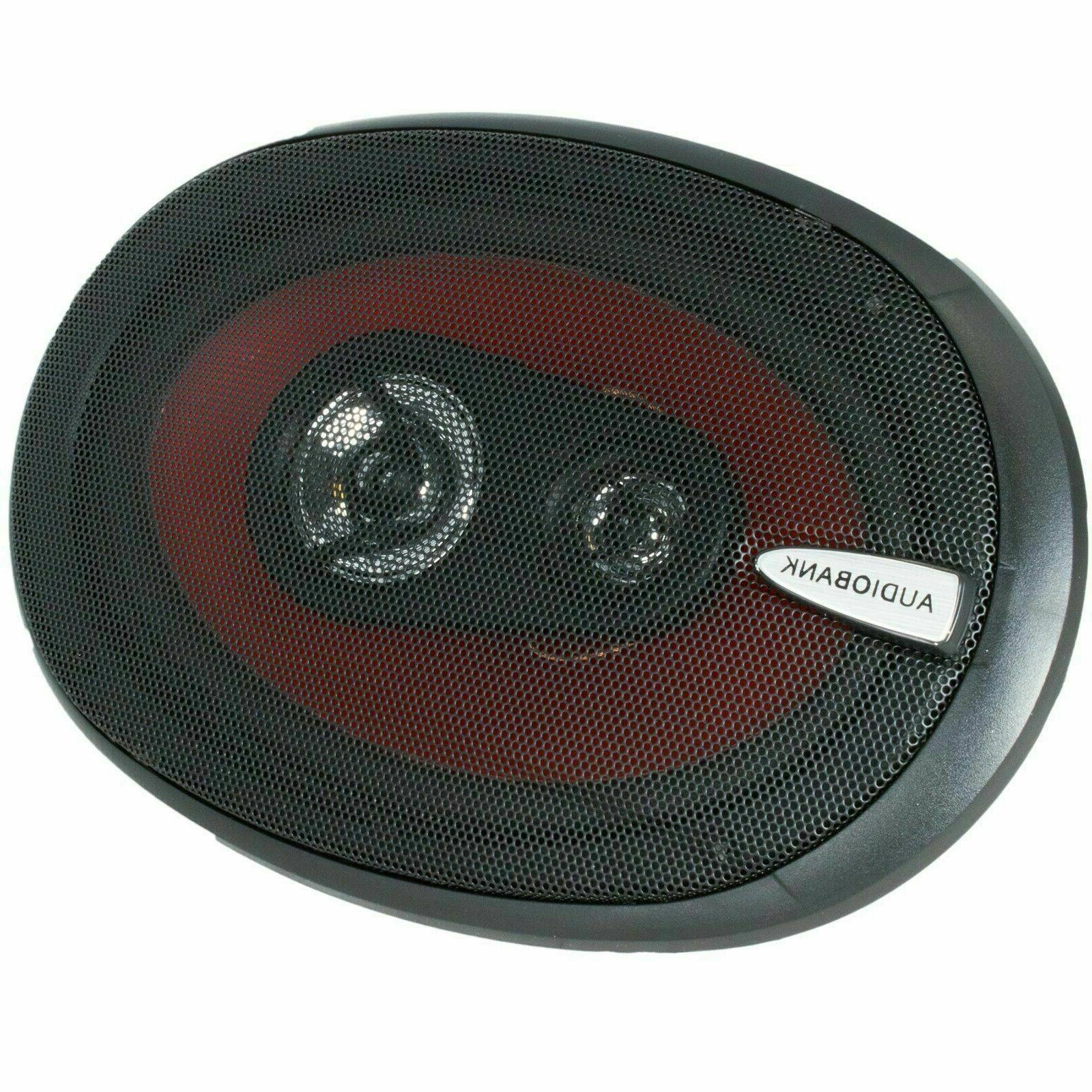 "Audiobank + 6.5"" 400W 4-Way Car Speakers"