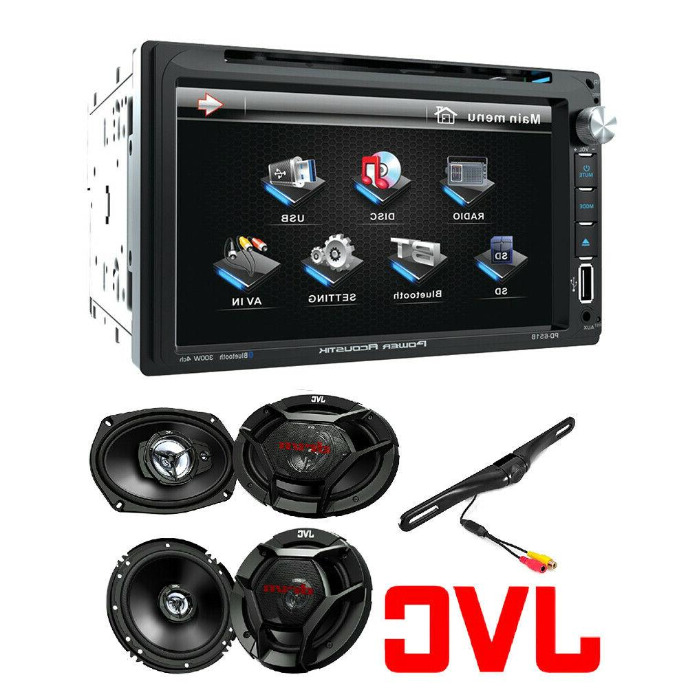 "Soundstream 2 DIN Stereo JVC 6.5"" 300w Car Audio Speakers+ 6"