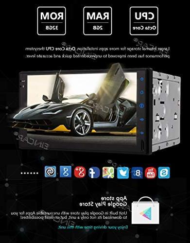 EinCar 8.1 OS Octa Core Car Double Din in Dash GPS 32GB WiFi RDS FM AM Video
